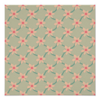 Pink Blossoms, pattern print