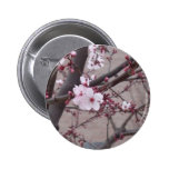 Pink Blossoms Pinback Buttons