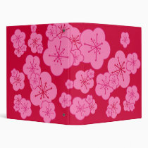 PINK BLOSSOMS RED AVERY BINDER