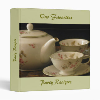 PINK BLOSSOMS TEA SET binder