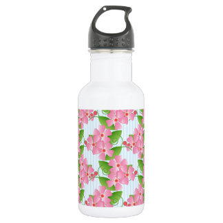Pink Blossoms Water Bottle