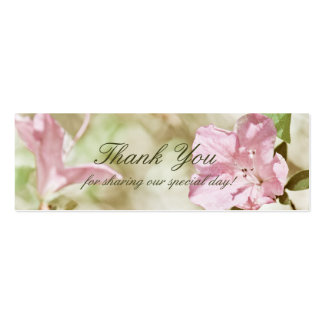 Pink Blossoms Wedding TinyThank You Cards Business Card Template
