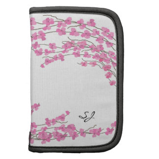 Pink Blossoms with Initials Folio Planners