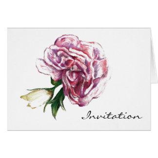 Pink blosson flower GARADEN PARTY INVITATION Cards