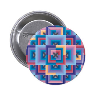 Pink Blue Abstract Button