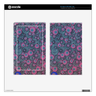 Pink Blue Abstract Decal For Kindle Fire