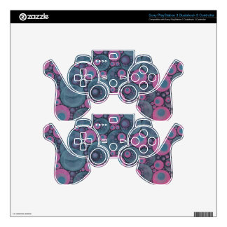 Pink Blue Abstract Decal For PS3 Controller