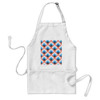 Pink Blue Abstract Geometric Designs Color Adult Apron