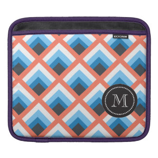 Pink Blue Abstract Geometric Designs Color Sleeves For iPads