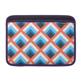 Pink Blue Abstract Geometric Designs Color MacBook Air Sleeve