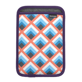 Pink Blue Abstract Geometric Designs Color iPad Mini Sleeves