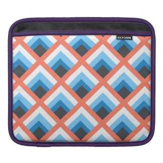 Pink Blue Abstract Geometric Designs Color iPad Sleeve