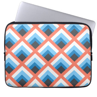 Pink Blue Abstract Geometric Designs Color Laptop Sleeve