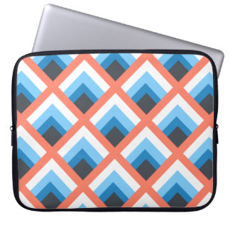 Pink Blue Abstract Geometric Designs Color Computer Sleeve