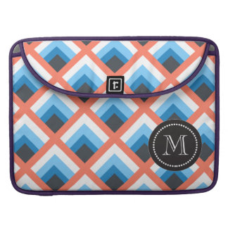 Pink Blue Abstract Geometric Designs Color MacBook Pro Sleeve