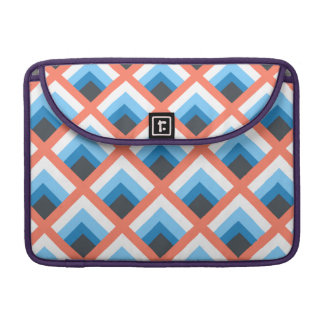Pink Blue Abstract Geometric Designs Color Sleeve For MacBook Pro