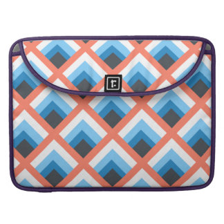 Pink Blue Abstract Geometric Designs Color Sleeves For MacBooks