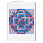 Pink Blue Abstract Greeting Card