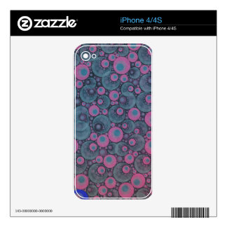 Pink Blue Abstract iPhone 4 Decals
