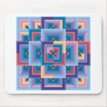 Pink Blue Abstract Mouse Pad