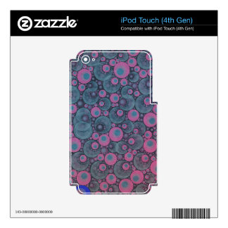 Pink Blue Abstract Skins For iPod Touch 4G
