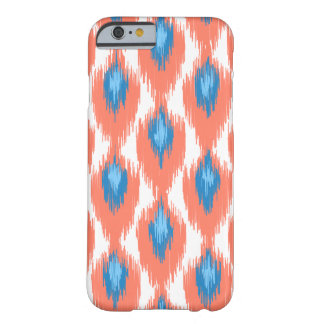 Pink Blue Abstract Tribal Ikat Diamond Pattern Barely There iPhone 6 Case