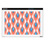 Pink Blue Abstract Tribal Ikat Diamond Pattern Laptop Decals