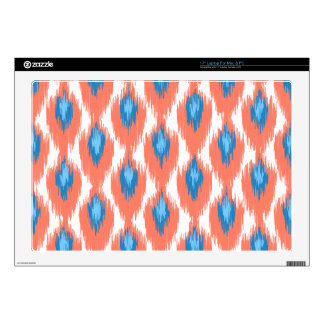 "Pink Blue Abstract Tribal Ikat Diamond Pattern Skin For 17"" Laptop"
