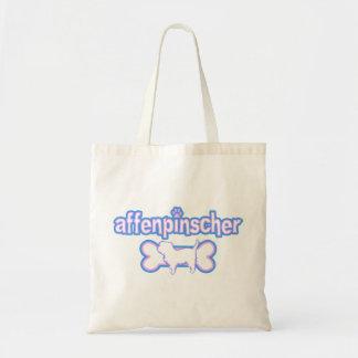 Pink & Blue Affenpinscher Budget Tote Bag