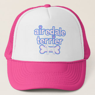 Pink & Blue Airedale Terrier Trucker Hat