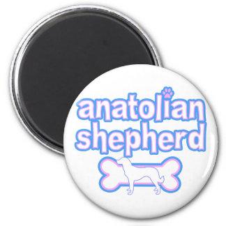 Pink & Blue Anatolian Shepherd 2 Inch Round Magnet