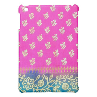 Pink Blue and Gold Floral iPad Mini Case