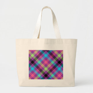 Pink blue and green plaid bag