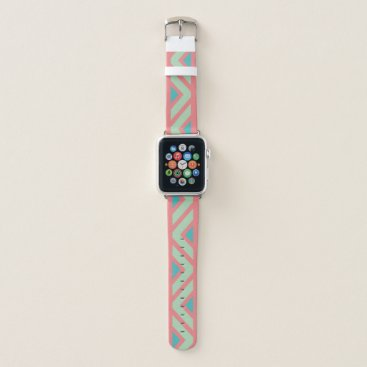 Aztec Themed Pink, Blue and Green Southwest Apple Watch Band