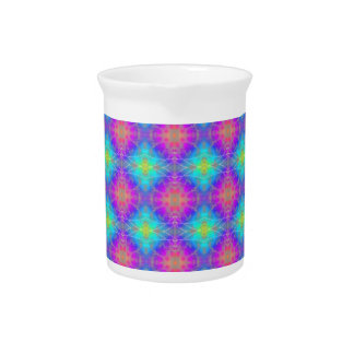 Pink, Blue and Purple Bokeh Quilt Drink Pitchers
