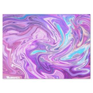 pink blue and purple swirls tissue paper
