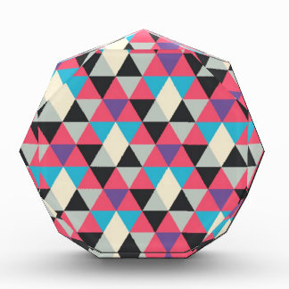 Pink Blue and White Triangle Pattern Award