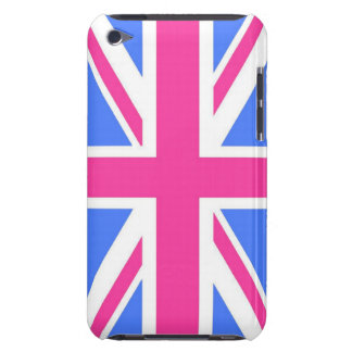 Pink Blue and White Union Jack Flag iPod Touch Case-Mate Case