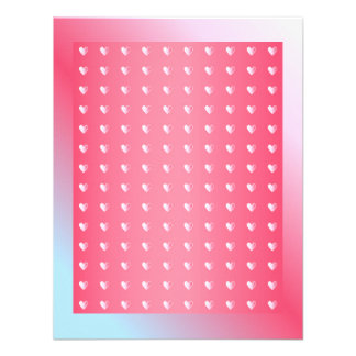 Pink blue and white Valentine Design Personalized Announcement