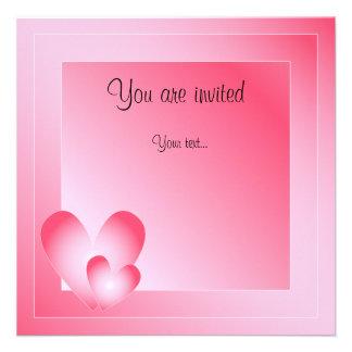 Pink blue and white Valentine Design Custom Announcement