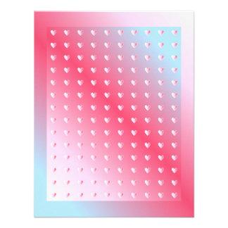 Pink blue and white Valentine Design Custom Invite