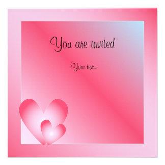 Pink blue and white Valentine Design Personalized Invite