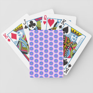 Pink, Blue and Yellow Flower Pattern. Bicycle Playing Cards