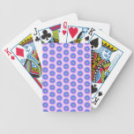 Pink, Blue and Yellow Flower Pattern. Bicycle Card Decks