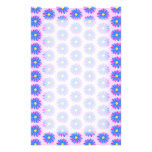 Pink, Blue and Yellow Flower Pattern. Customized Stationery