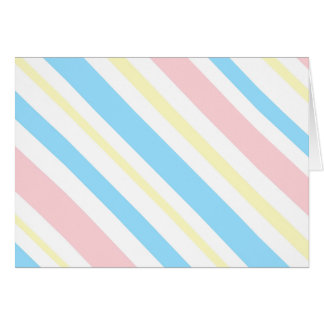 Pink Blue and Yellow Striped Greeting Card