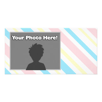 Pink Blue and Yellow Striped Card
