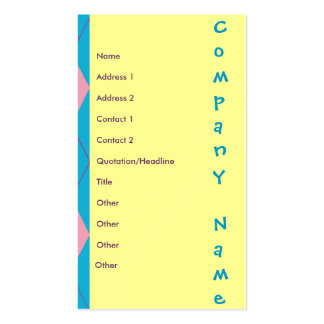 Pink & Blue Argyle Double-Sided Standard Business Cards (Pack Of 100)