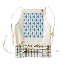 Pink blue argyle pattern zazzle HEART apron