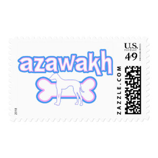 Pink & Blue Azawakh Postage Stamps